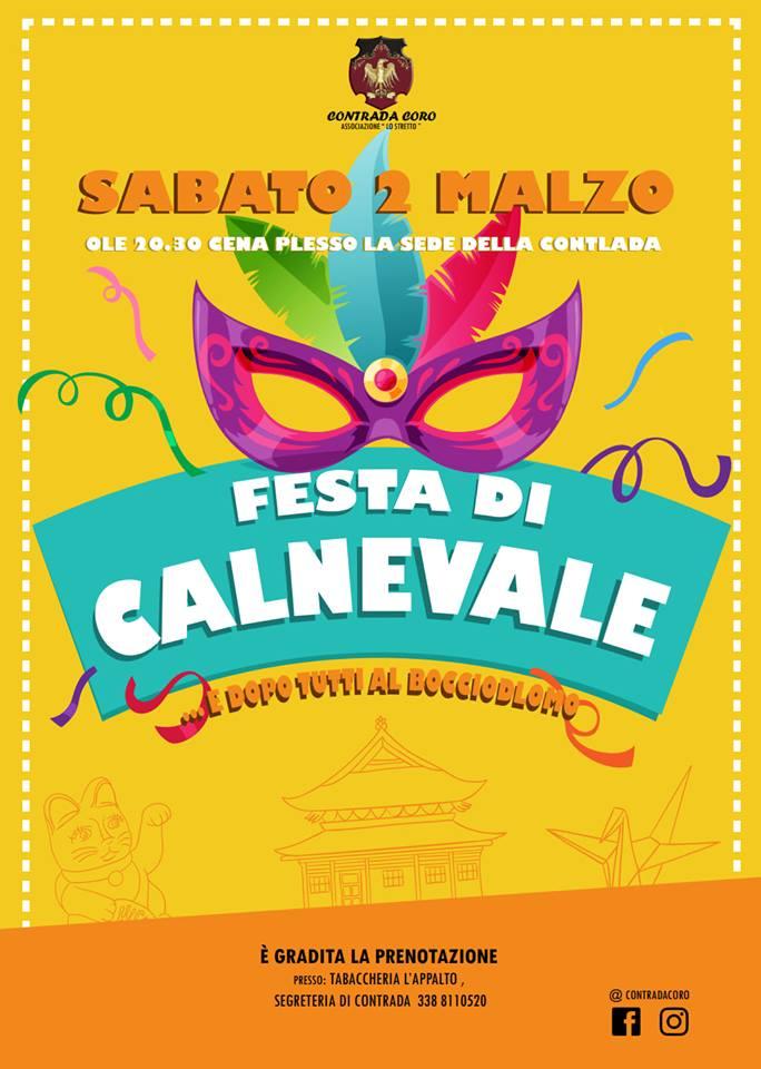 """Palio di Piancastagnaio, Contrada Coro: 02/03 """"Festa di Carnevale"""""""