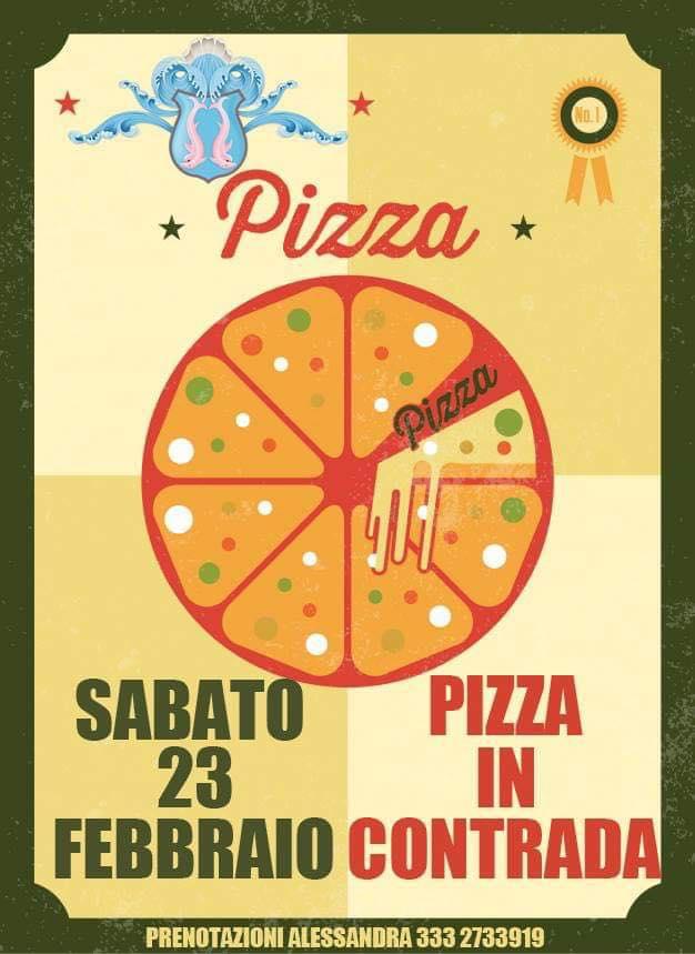 Palio di Fucecchio, Contrada Massarella: Domani 23/02 Pizza inContrada