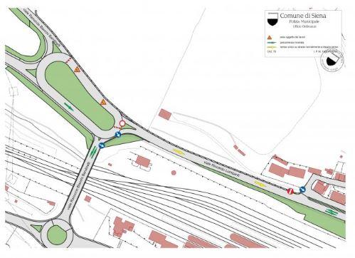 Siena: Modifiche alla viabilità nella zona della rotatoria tra le via Bianchi Bandinelli, Giovanni Paolo II e vialeLombardi