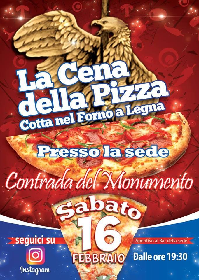 Palio di Castel del Piano, Contrada Monumento: 16/02 La Cena dellaPizza