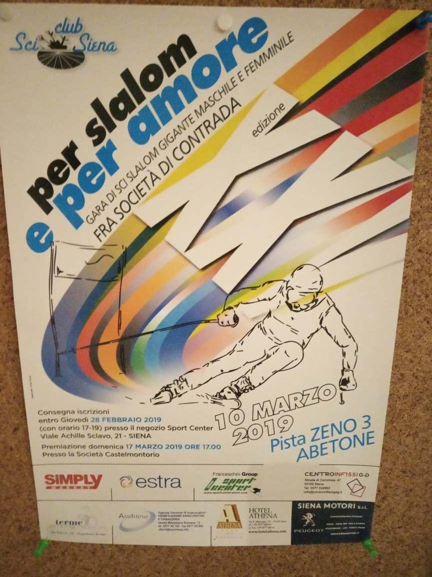 """Siena: Domani 28/02 termine ultimo per iscriversi alla gara di sci fra Contrade """"Per Slalom e perAmore"""""""