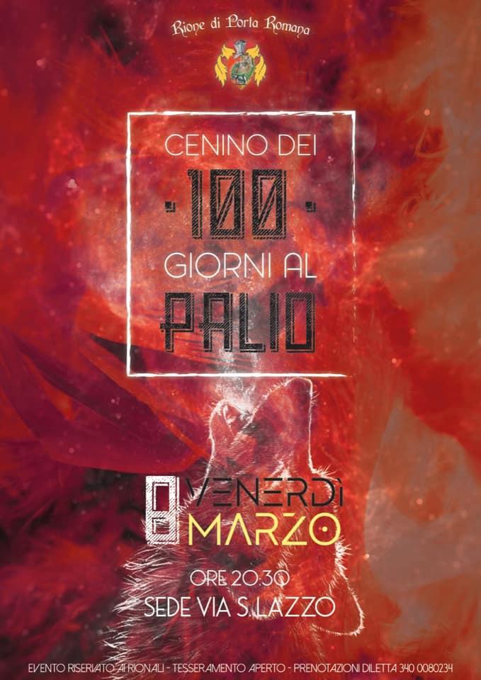 Palio di Castiglion Fiorentino, Rione Porta Romana: 08/03 Cenino dei 100 Giorni alPalio