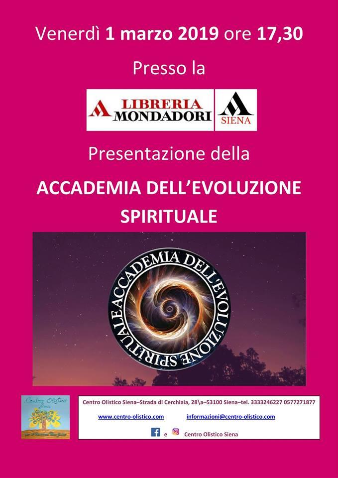 Siena: 01/03 Presentazione Accademia dell'Evoluzione Spirituale daMondadori