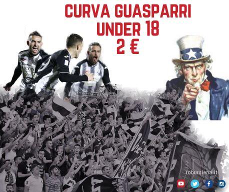 Siena, Robur Siena: Prevendita Robur Siena-Alessandria del 09/02. Under 18 a 2 € in curvaRobur
