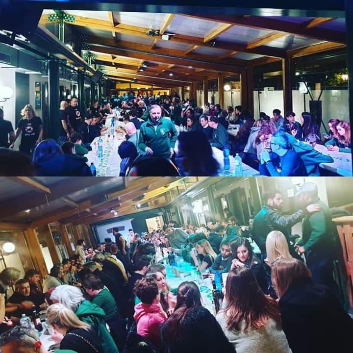 Palio di Legnano, Contrada San Domenico: Resoconto Cena dei 100 Giorni al Palio del23/02