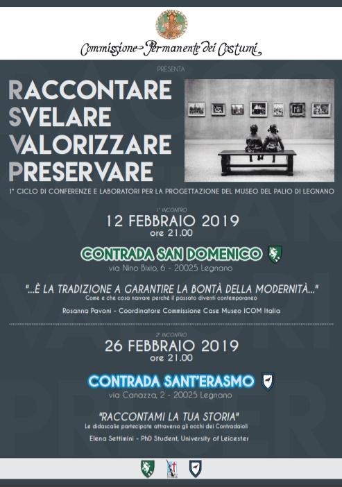 """Palio di Legnano, Contrada Sant'Erasmo: 26/02 """"Il Museo del Palio diLegnano"""""""