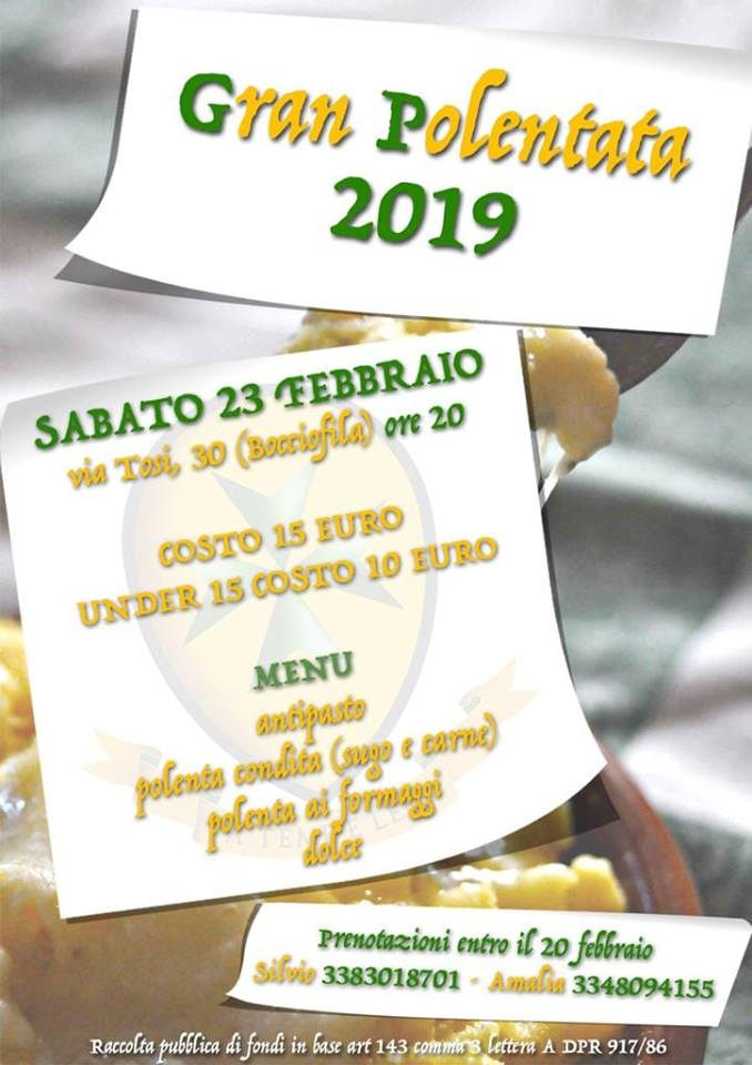 "Palio di Asti, Borgo San Lazzaro: 23/02 ""Gran Polenta2019"""