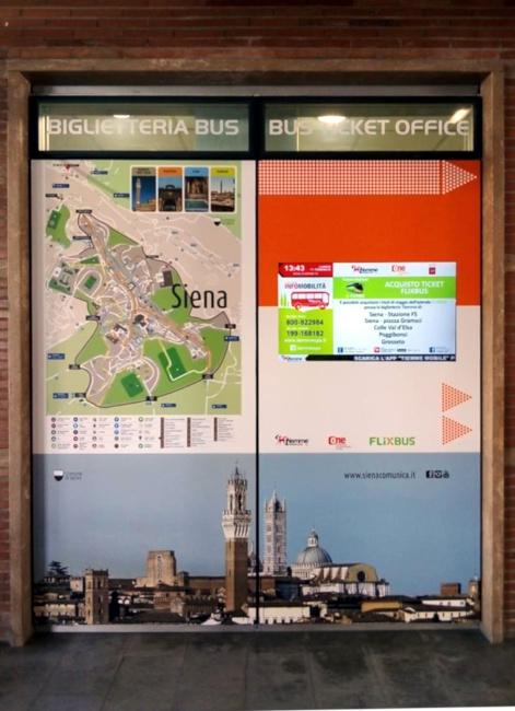 Siena: Nuovo look per la biglietteria Tiemme alla Stazione Fs diSiena