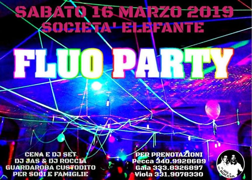 """Siena, Contrada della Torre: 16/03 """"FluoParty"""""""