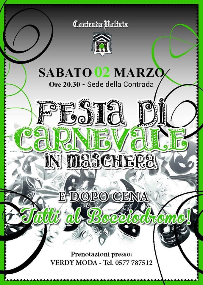 Palio di Piancastagnaio, Contrada Voltaia: 02/03 Festa diCarnevale