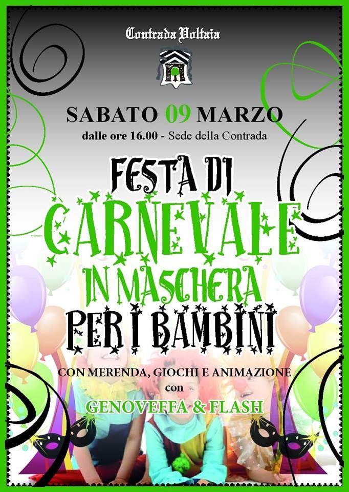 Palio di Piancastagnaio, Contrada  Voltaia: 09/03 Festa di Carnevale per iBambini!!