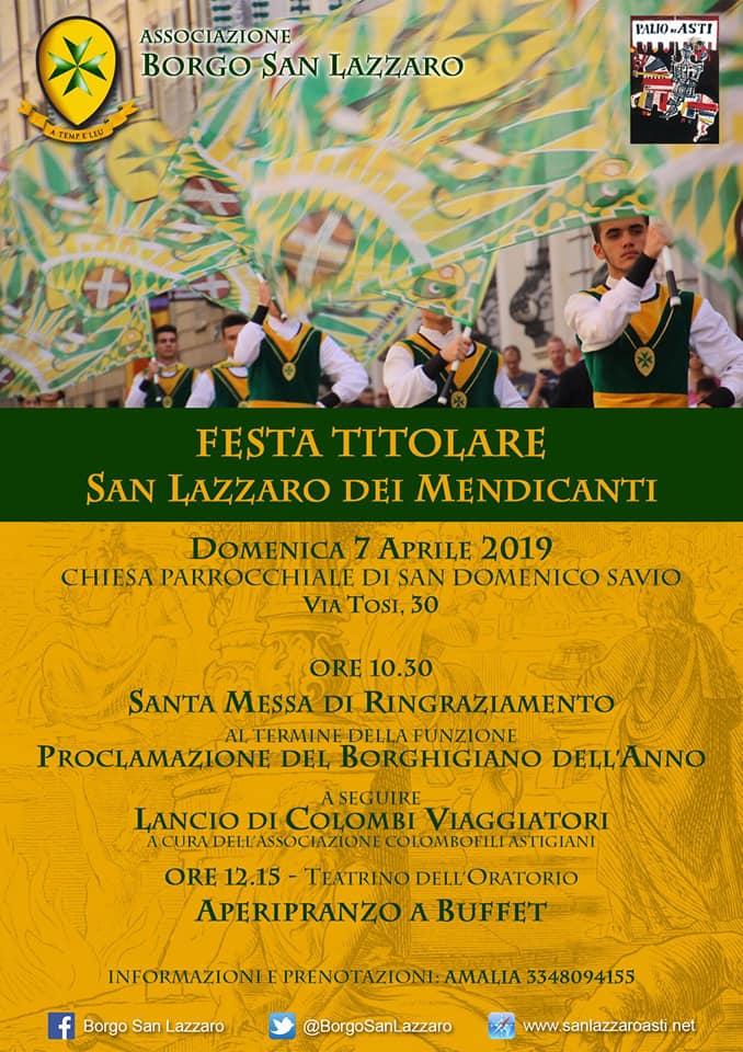 """Palio di Asti, Borgo San Lazzaro: 07/04 """"FestaTitolare"""""""