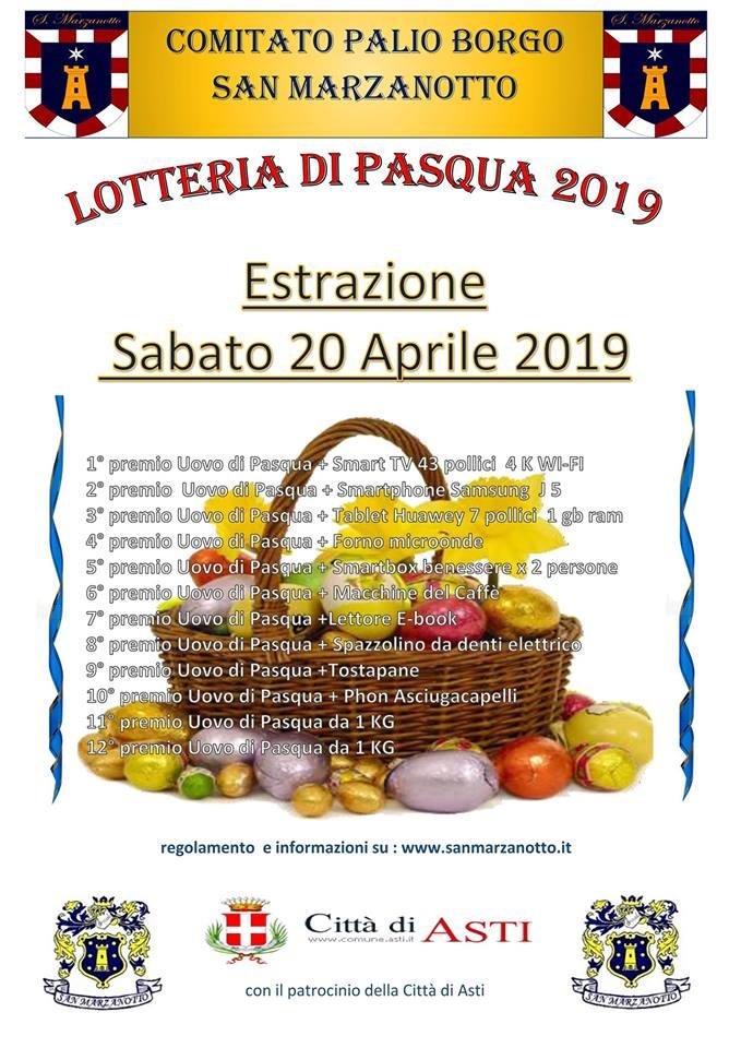 Palio di Asti, Comitato Palio Borgo San Marzanotto: Lotteria di Pasqua2019