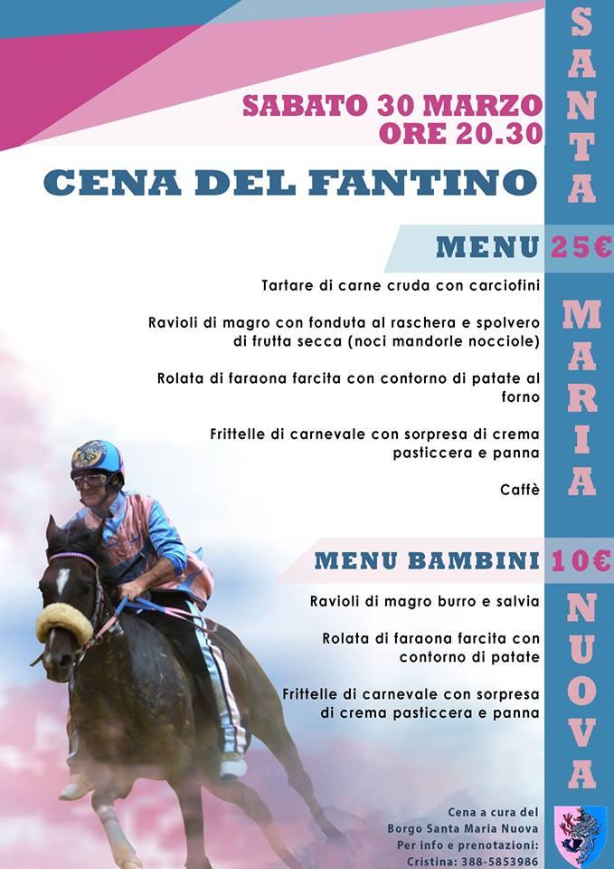 """palio di Asti, Borgo Santa maria Nuova: 30/03 """"Cena delFantino"""""""