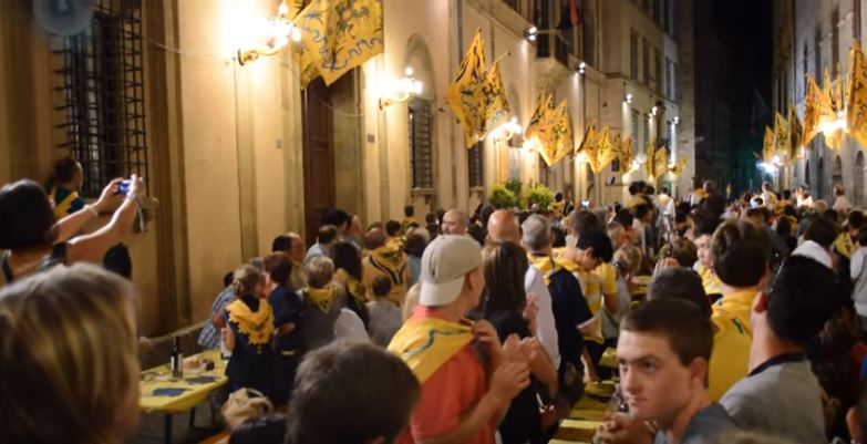 Palio di Siena: Travel Video – At Contrada Aquila, Siena During Palio di Siena – ItalyTravel