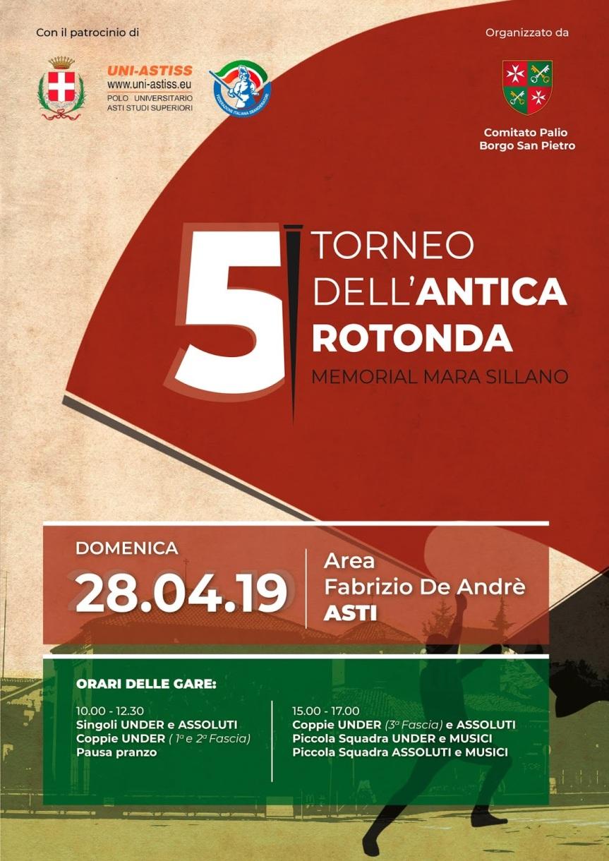 Palio di Asti, Comitato Palio Borgo San Pietro: 28/04 5° Torneo dell'Antica Rotonda