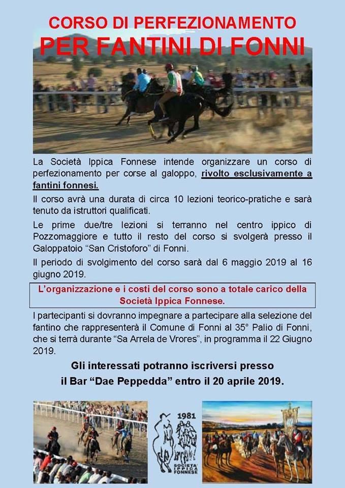 Sardegna, Società Ippica Fonnese: Corso di Perfezionamento per Fantini diFonni