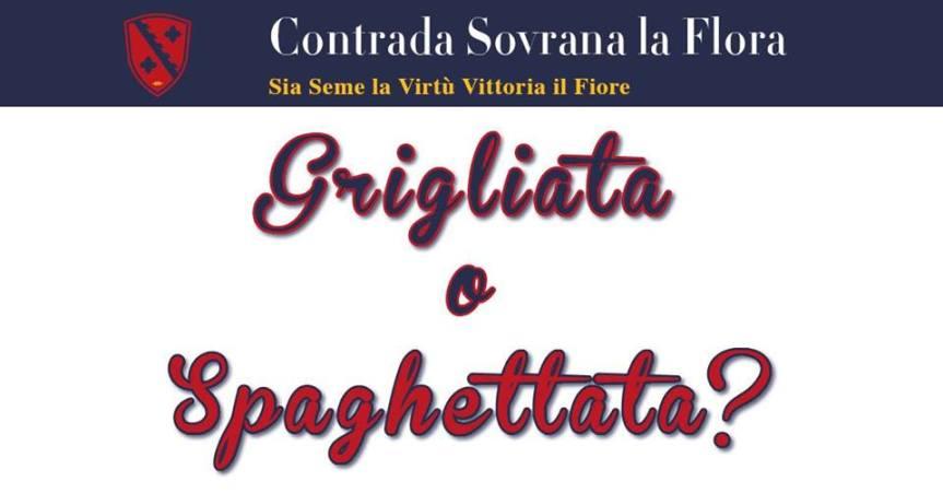Palio di Legnano, Contrada La Flora: 19/04 Grigliata oSpaghettata?