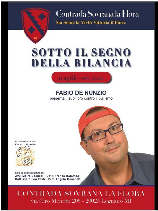 """Palio di Legnano, Contrada La Flora: 11/04 Presentazione libro """"Sotto il Segno dellaBilancia"""""""
