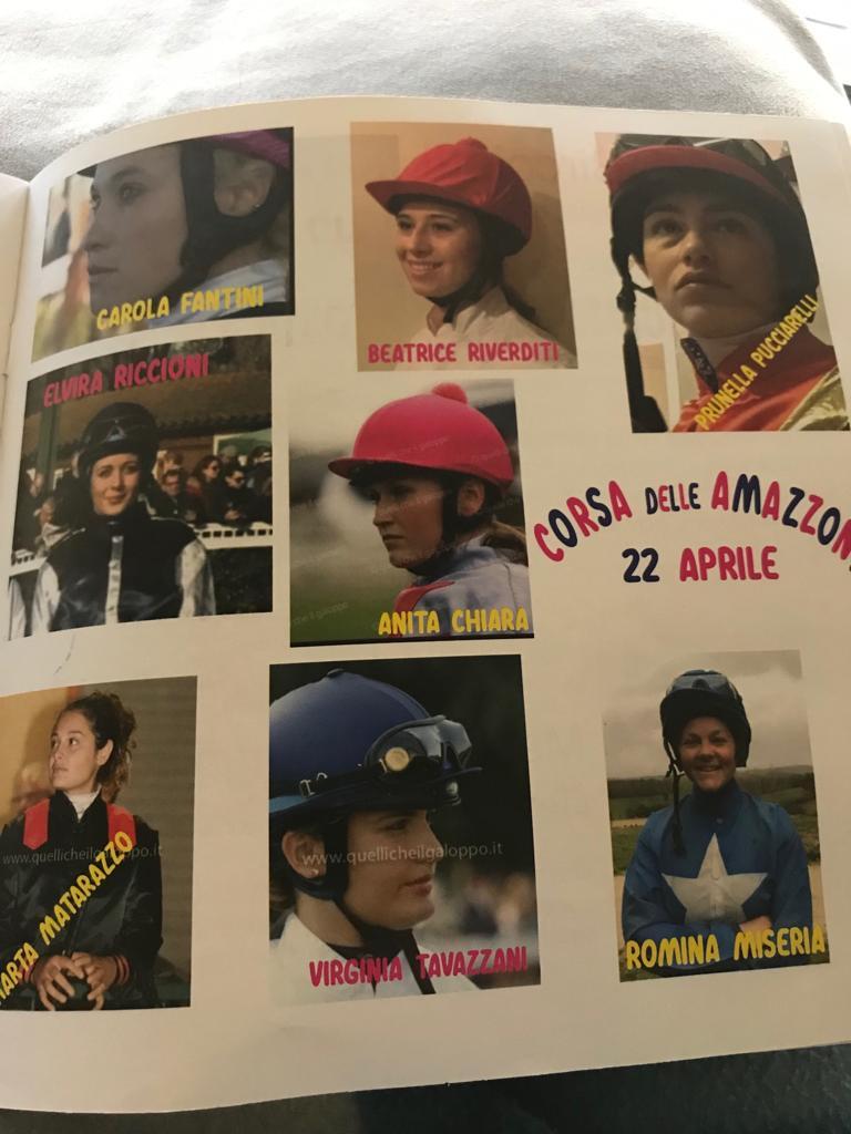 Palio di San Vincenzo: Abbinamento Amazzoni-Cavalli Corsa Amazzoni del22/04
