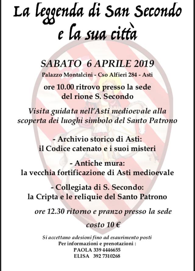 """Palio di Asti, Rione San Secondo: 06/04 """"La Leggenda di San Secondo e la suaCittà"""""""