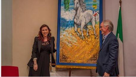 Palio della Costa Etrusca: SARA E NELLO GUERRINI FIRMANO IL CENCIO DEL PALIO DELLA COSTAETRUSCA