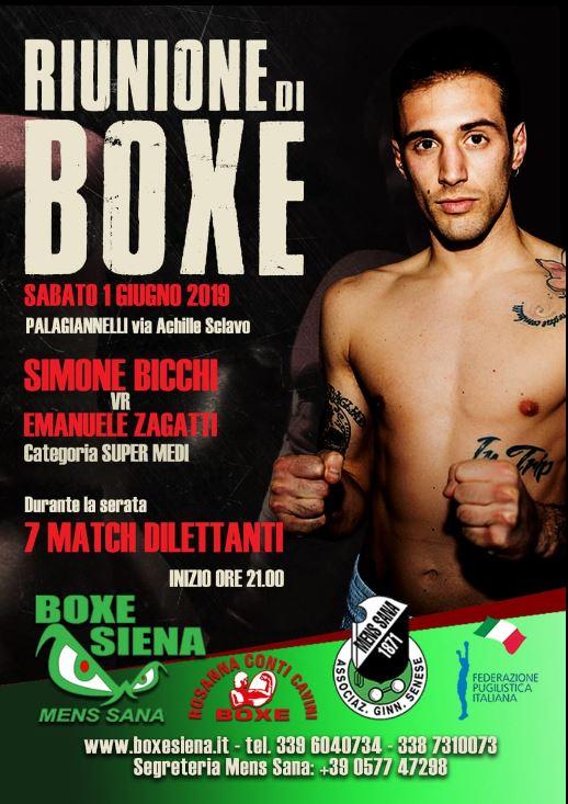 Siena, Boxe Mens Sana: Siena Warrior SimoneBicchi