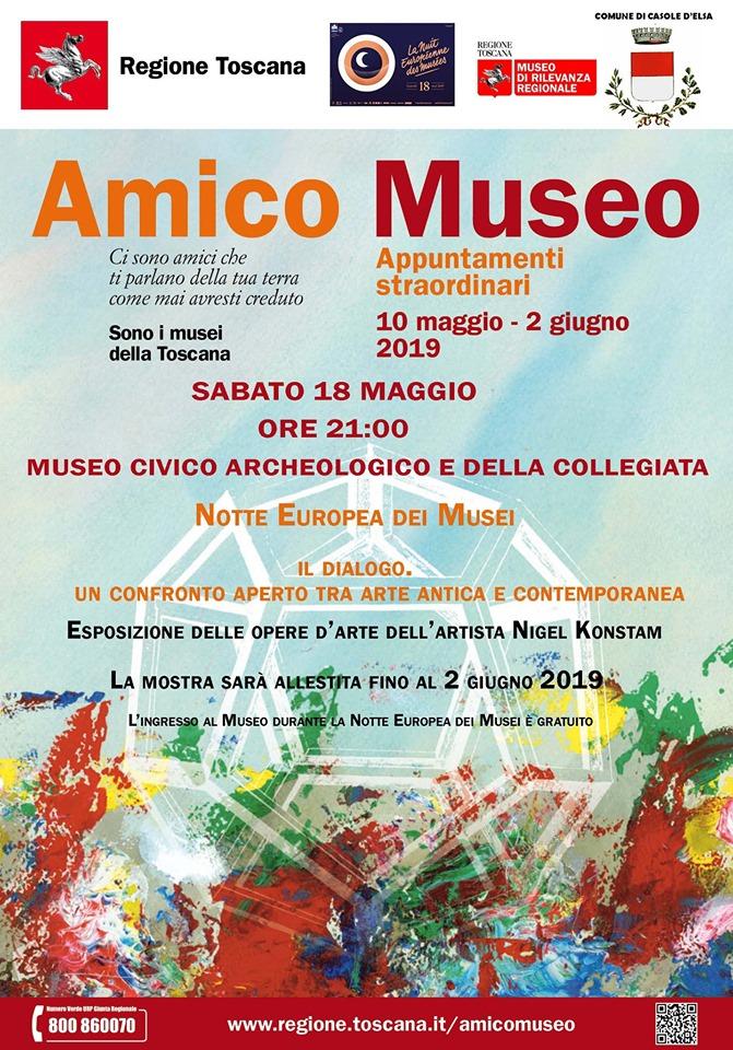 Provincia di Siena, Casole d'Elsa: Oggi 18/05 Il Dialogo. Un confronto aperto tra arte antica econtemporanea