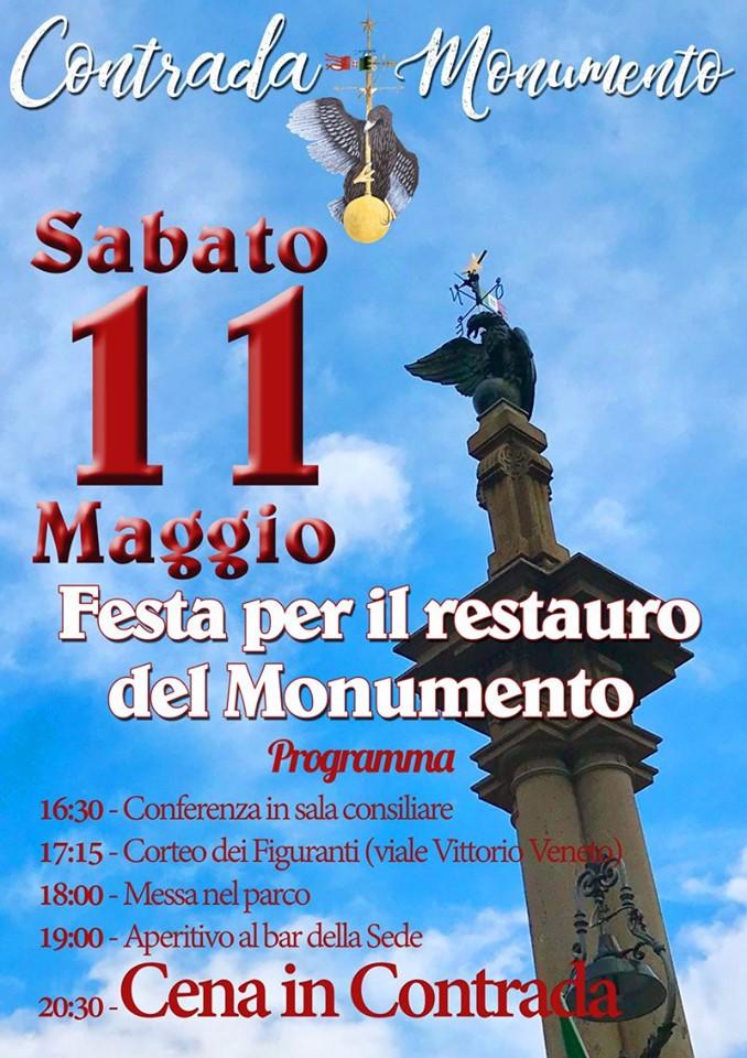 Palio di Castel del Piano, Contrada Monumento: Oggi 11/05 Festa per il restauro delMonumento