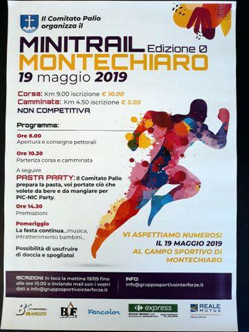 """Palio di Asti, Comitato Palio Montechiaro: 19/05 """"Minitrail"""""""