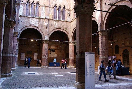Siena, Lavori di dissuasione piccioni all'interno del Cortile del Podestà: Posizionato sulla Lupa un innovativo sistema antivolatile