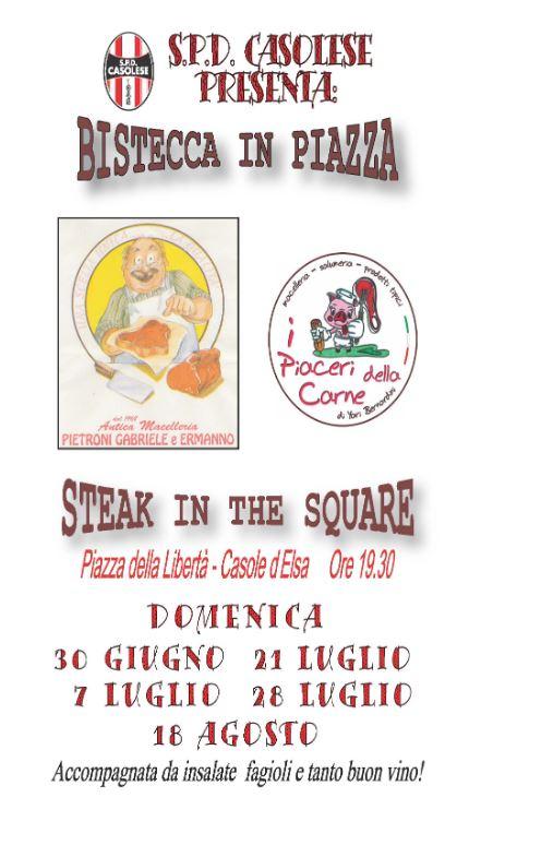 """Provincia di Siena, Casole D'elsa: """"Bistecca in Piazza """"2019"""