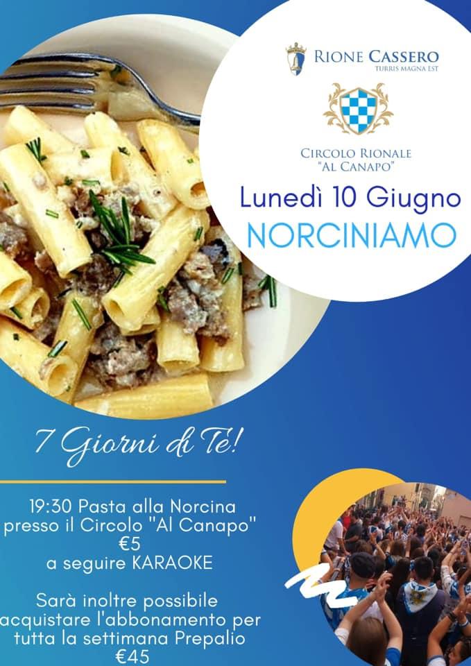 """Palio di Castiglion Fiorentino, Rione Cassero: 10/06 """"Norciniamo"""""""