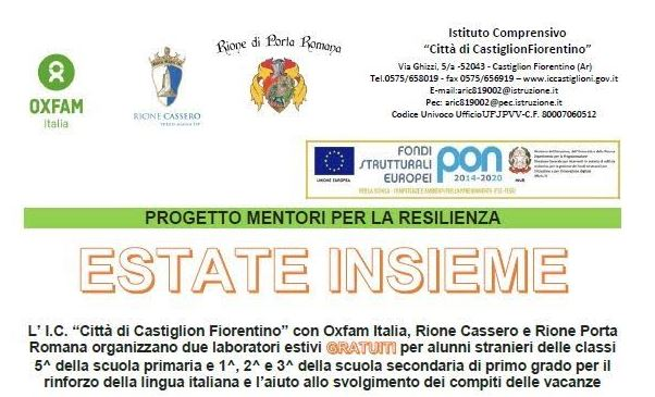 palio di Castiglion Fiorentino, Rione Porta Romana: Aiuto ai compiti scolastici, lezioni gratuite a PortaRomana