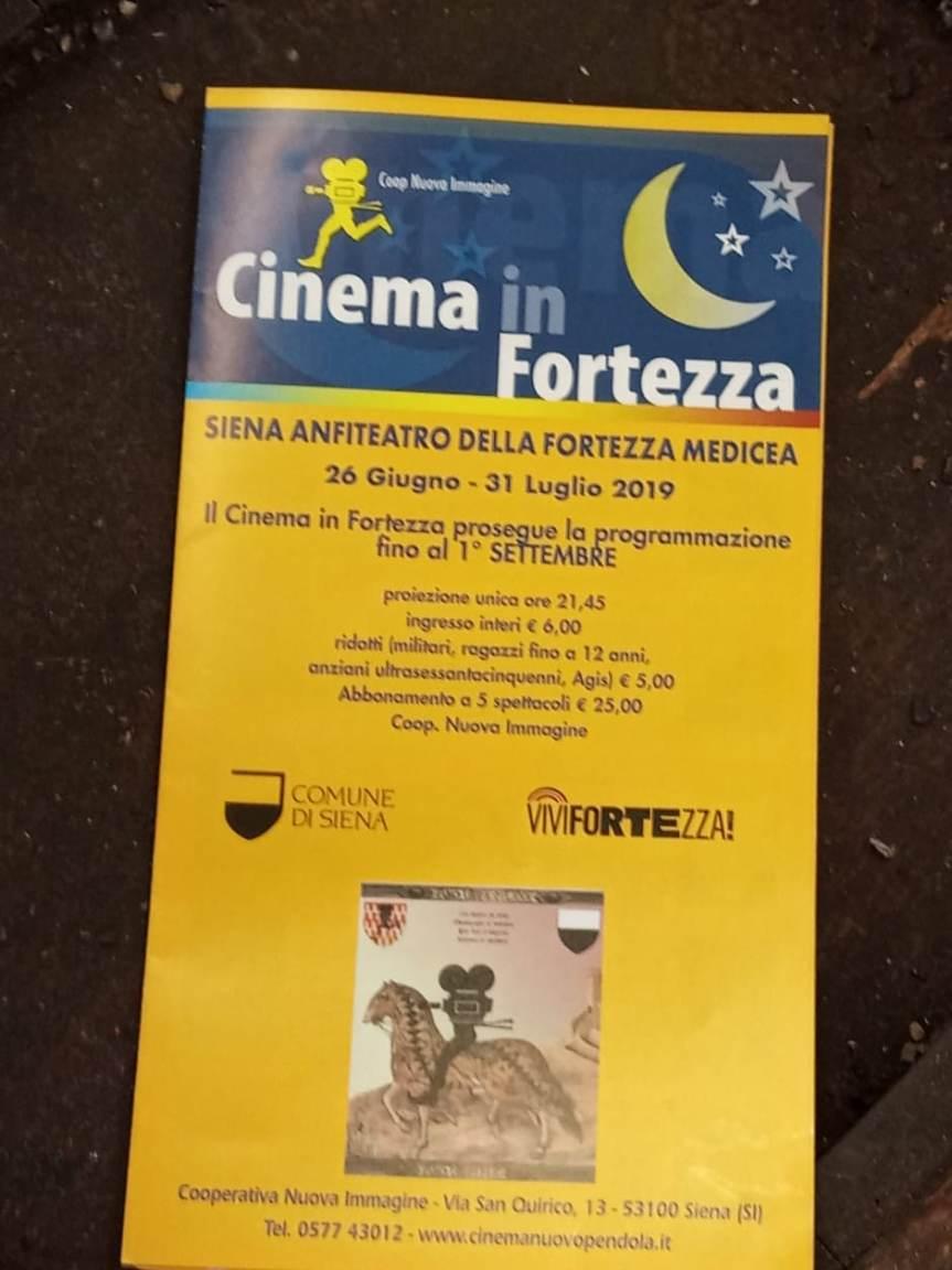 Siena: Al via Cinema in Fortezza2019