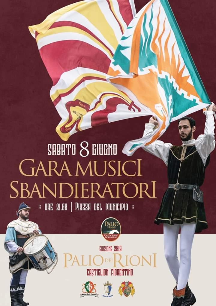 Palio di Castiglion Fiorentino: 08/06 Gara Musici eSbandieratori
