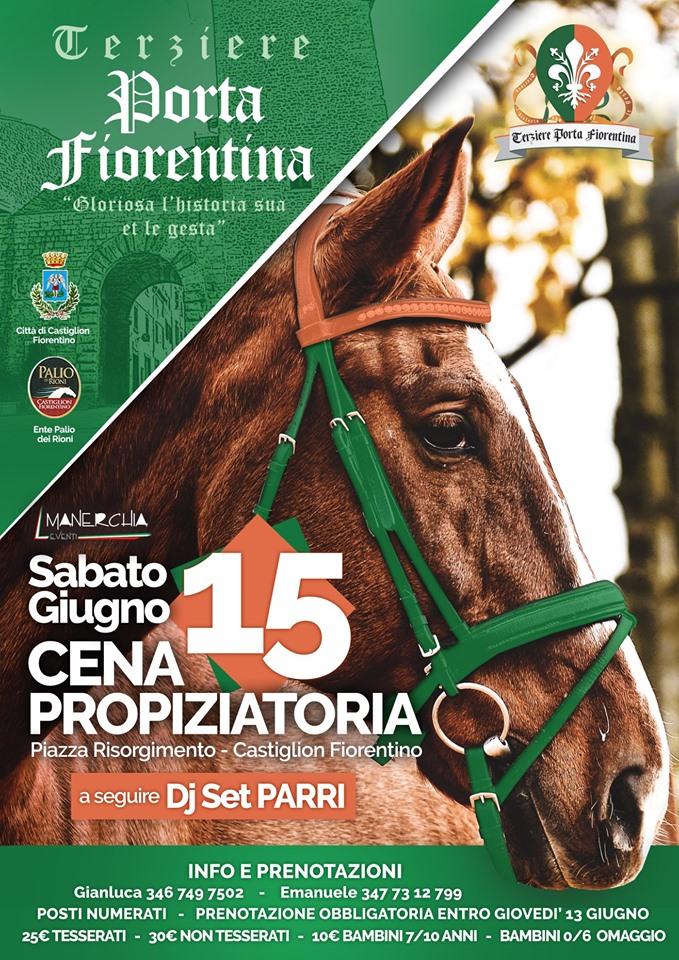 Palio di Castiglion Fiorentino: Terziere Porta Fiorentina: 15/09 CenaPropiziatoria