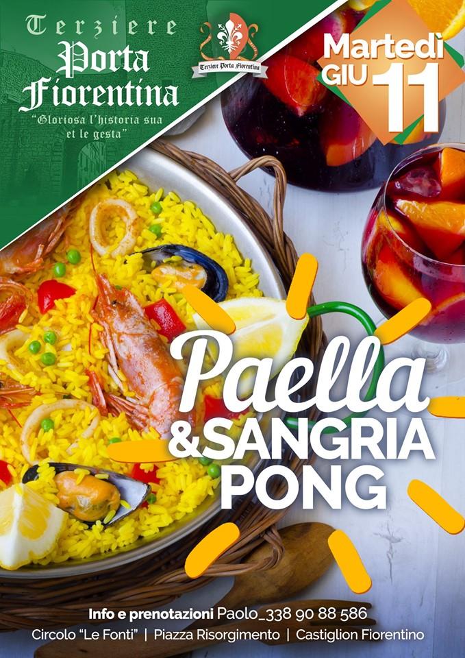 """Palio di Castiglion Fiorentino, Terziere Porta Fiorentina: 11/06 """"Paella&Sangria Pong"""""""
