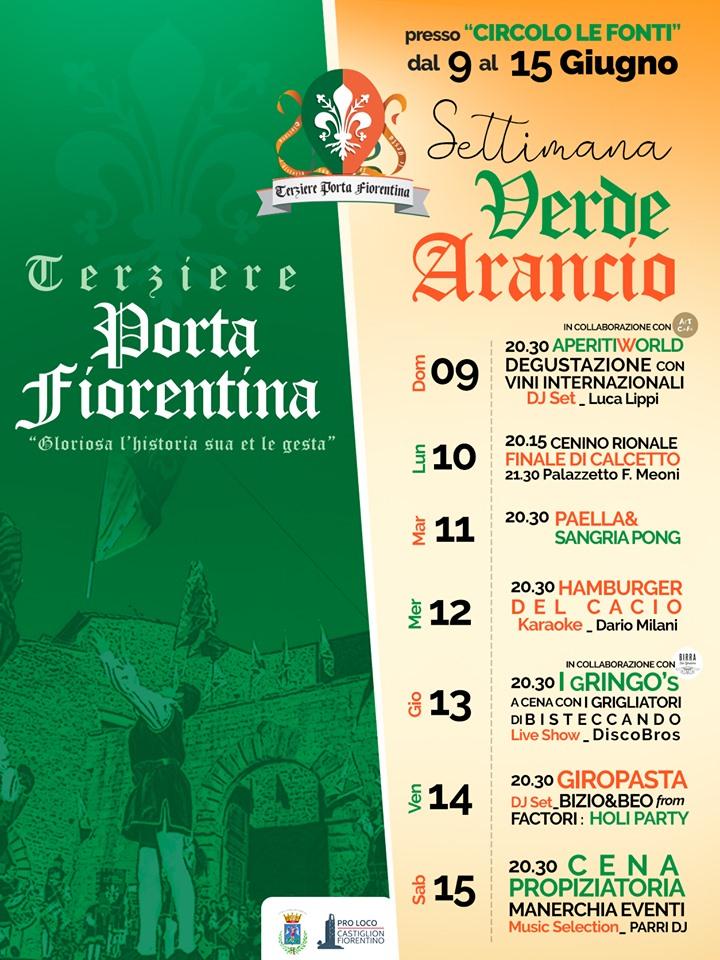 Palio di Castiglion Fiorentino, Terziere Porta Fiorentina: 09-15/06 Settimana V E R D E A R A N C I O2019