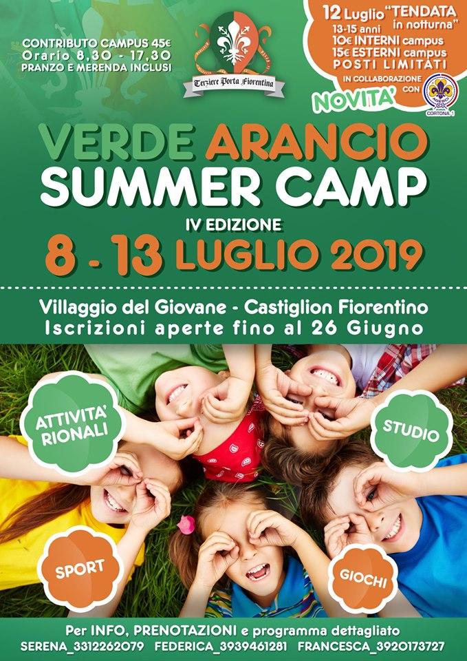 Palio di Castiglion Fiorentino: 08-13/07 Verde Arancio Summer Camp2019