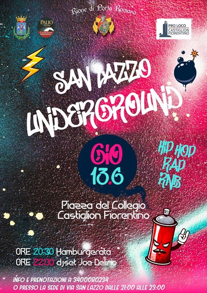 """Palio di Castiglion Fiorentino, Rione Porta Romana: 13/06 """"San Lazzo Undergorund"""""""
