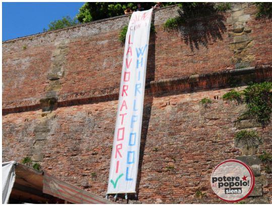 Siena: Potere al Popolo Siena è con i lavoratoriWhirlpool