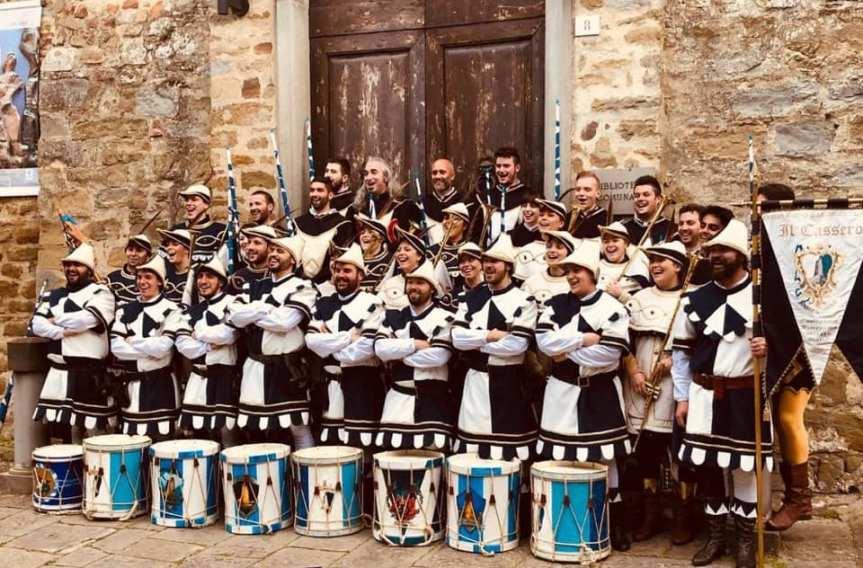 Palio di Castiglion Fiorentino, Rione Cassero: Ringraziamenti  Rione ai prori Musici eSbandieratori
