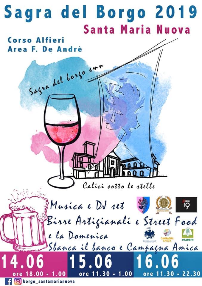 Palio di Asti, Borgo Santa Maria Nuova: 14-15-16/06 Festa del Borgo2019