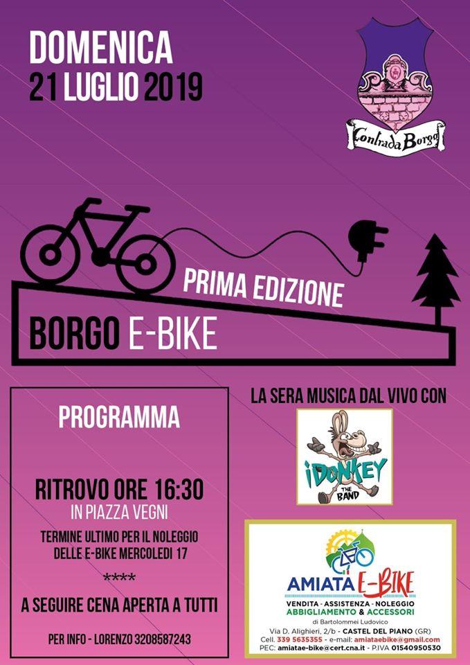 Palio di Castel del Piano, Contrada Borgo:  21/07 BORGOE-BIKE