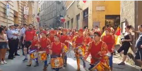 Siena, Contrada della Chiocciola: Giro Onoranze Consorelle2019