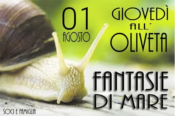 Siena, Società San Marco: Domani 01/08 Cena di Pesce con Fantasie diMare