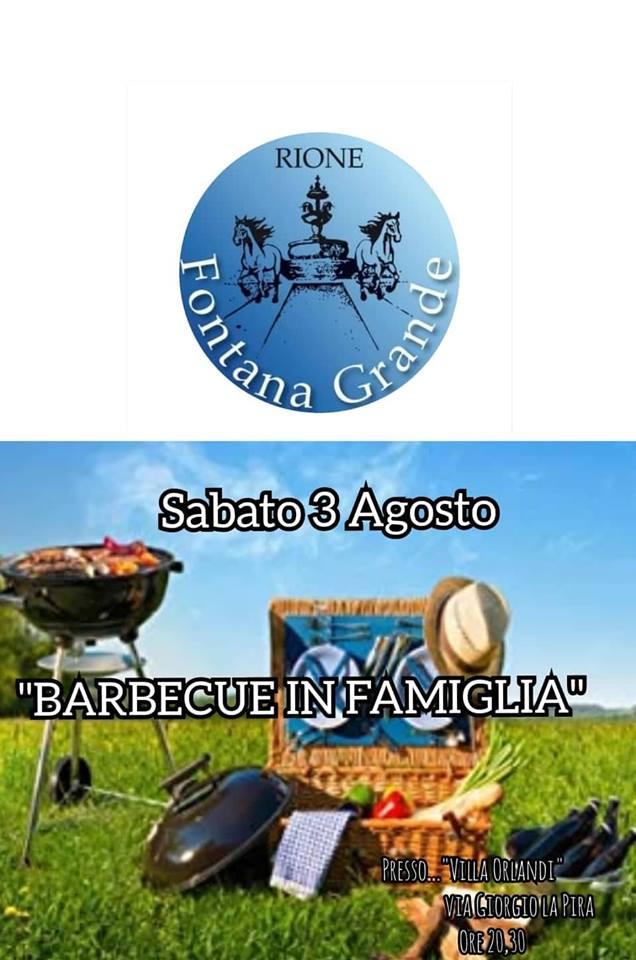 Corse a Vuoto, Rione Fontana Grande: 03/08 Barbecue inFamiglia