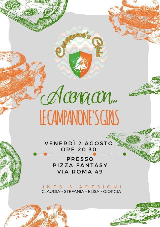 Corse a Vuoto Ronciglione, Rione Campanone: 02/08 A Cena con… Le Campanone's Girls