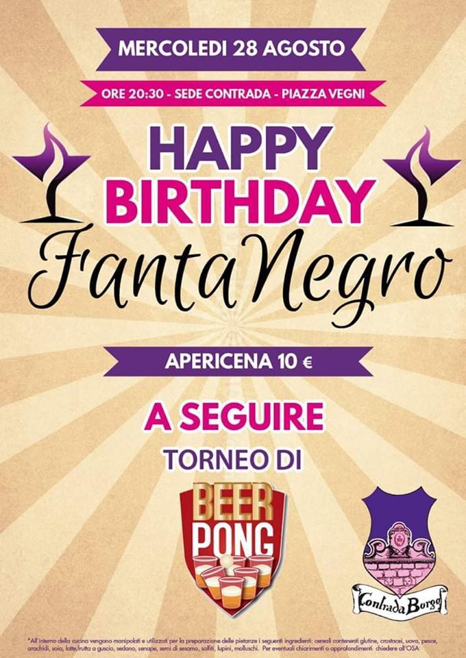 Palio di Castel del Piano, Contrada Borgo: 28/08 Happy BirthdayFantanegro